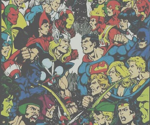 comics, DC, and super heroes image