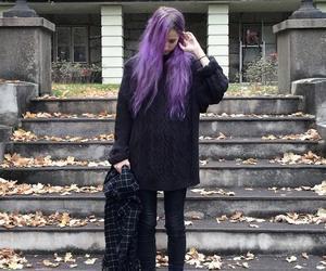grunge, purple hair, and purple image
