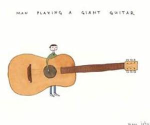 art, drawing, and guitar image