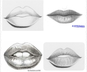 drawing lips, drawing how to, and drawing tips image
