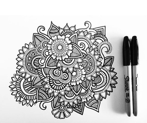 mandala, zen, and zentangle image