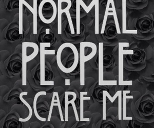 evan peters, normal people scare me, and american horror story image