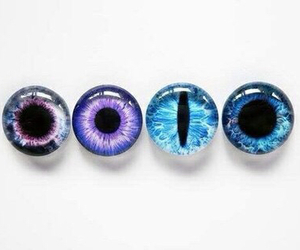 eyes, blue, and purple image