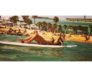 beach, board, and paddle image