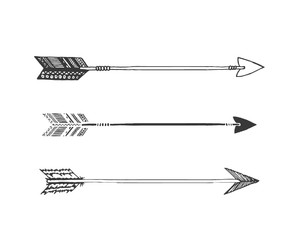 arrow and black and white image