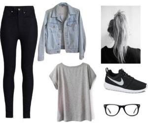 fashion, nike, and basic image