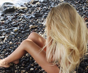 blond, girl, and summer image