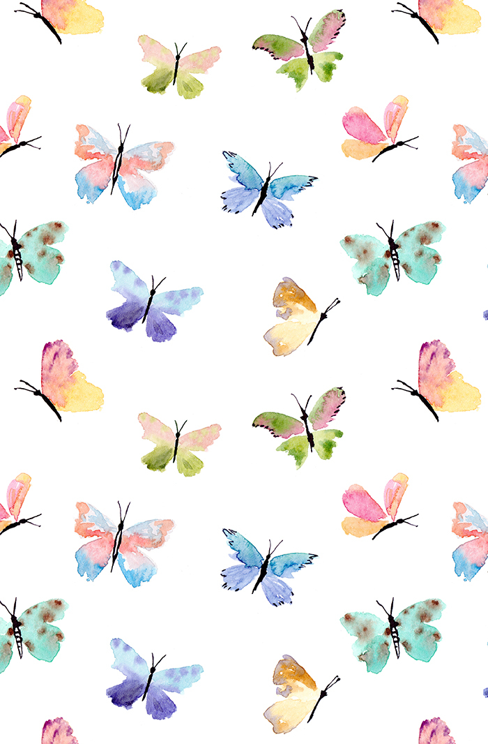 background, pattern, and butterflies image