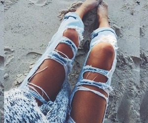 jeans, beach, and summer image