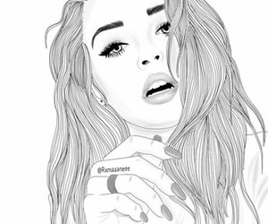 b&w, draw, and gorgeous image