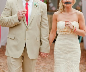 wedding, mustache, and carnival image