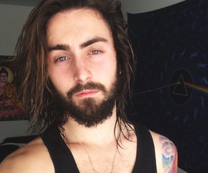 beard, hair, and Hot image
