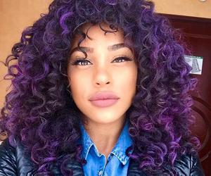beautiful, curly, and girl image