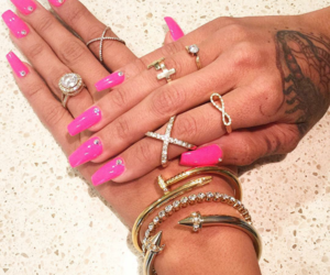 bracelets, pink, and cool image
