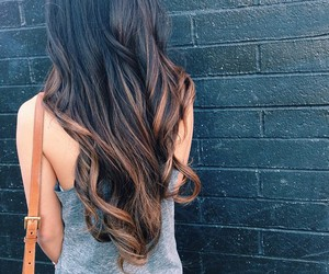brunette, curls, and fashion image
