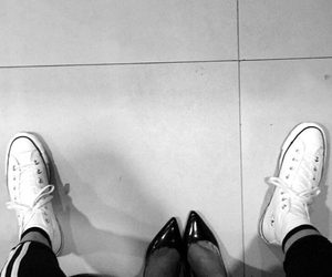 black and white, shoes, and ariana grande image