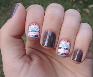 nails, nail art, and tribal image