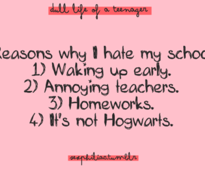 quote, hogwarts, and reasons image