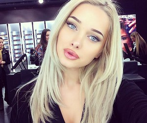 girl, blonde, and makeup image