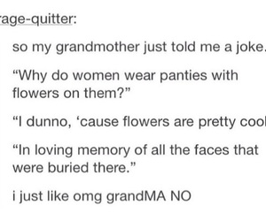 flowers, funny, and grandma image