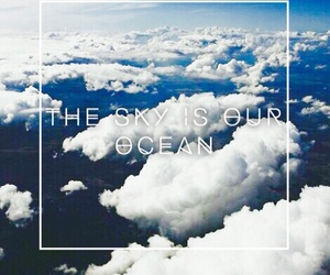 ocean, quote, and sky image