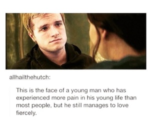 sad, hunger games, and peeta image