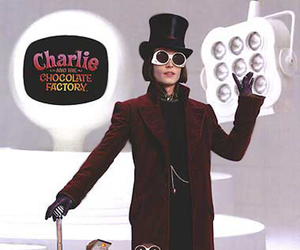 charlie and the chocolate factory, johnny depp, and oompa loompa image