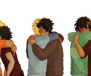 hug, percy jackson, and will solace image