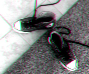 black and white, converse, and shoes image