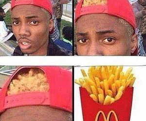 funny, lol, and fries image