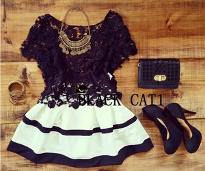 beautiful, outfit, and black image