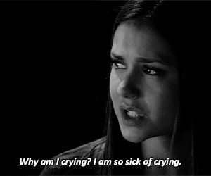 elena, crying, and cry image