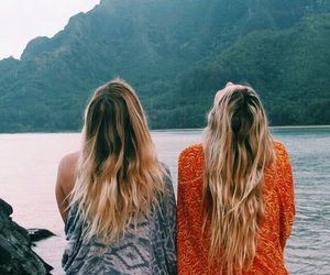 friends, summer, and hair image
