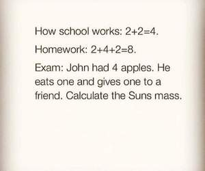 exams, school, and funny image