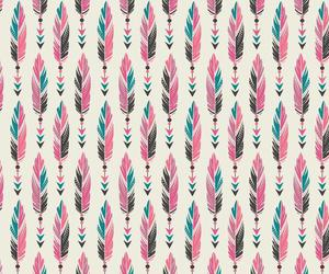 pink, background, and feathers image