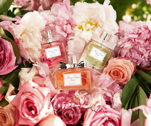 perfume, flowers, and dior image