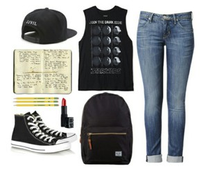 all star, black, and jeans image