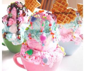 ice cream, food, and sweet image