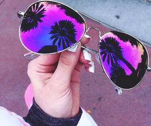 sunglasses, summer, and purple image