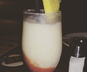 alcohol, pineapple, and strawberries image