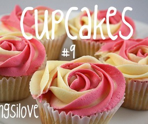 cupcakes, pink, and rose image