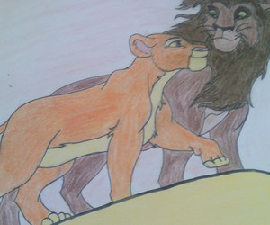 disney, draw, and lion king image