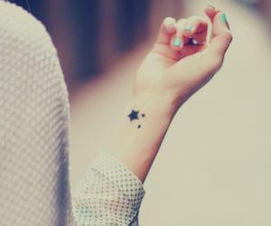 tattoo, stars, and hand image