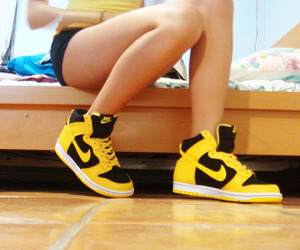 nike, yellow, and black image
