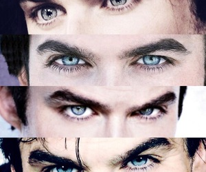 ian somerhalder, blue eyes, and tvd image