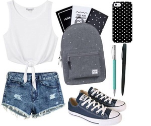 background, backpack, and clothes image