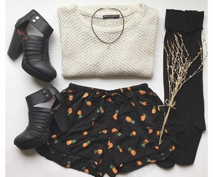 autumn, clothes, and flowers image