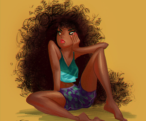 Afro, drawing, and tumblr image