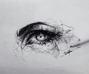 art, drawing, and eye image