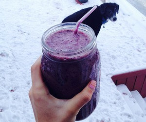 drink, healthy, and smoothie image